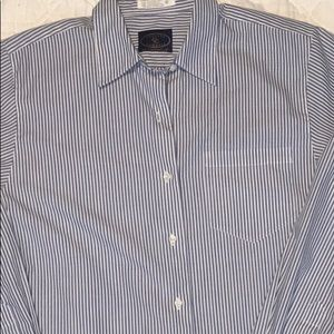 Chelsea Cambell blue & white striped blouse size 8